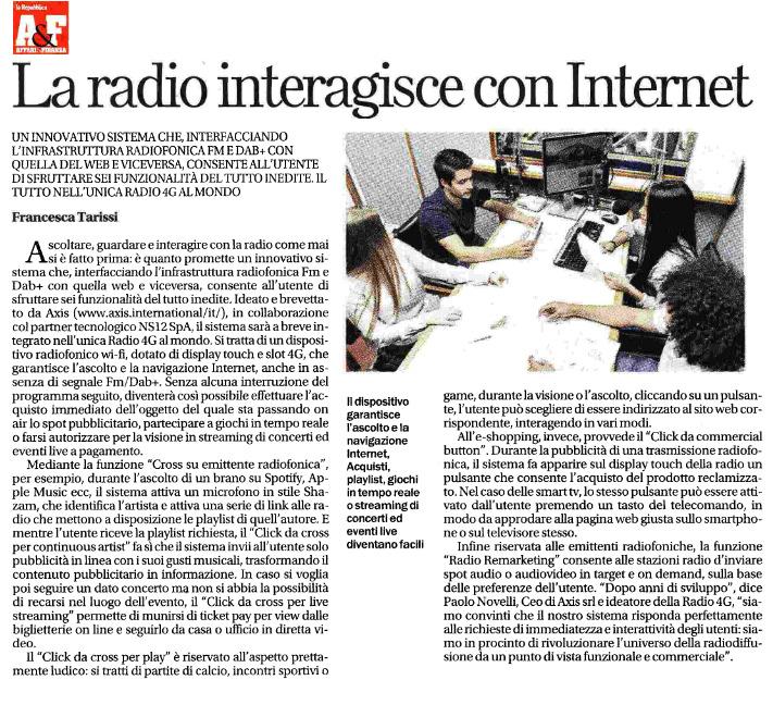 La radio interagisce con Internet - Affari & Finanza del 02/10/2017