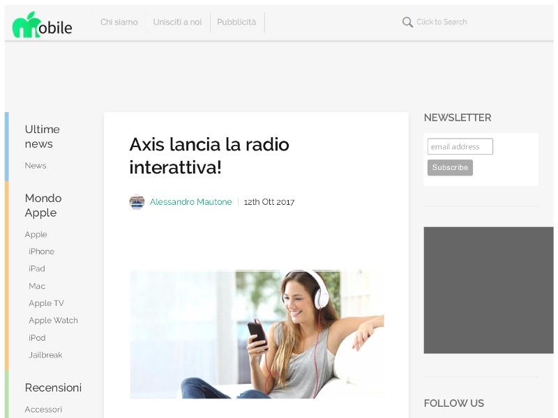 Axis lancia la radio interattiva!
